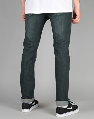 Route One Slim Denim Jeans - Old Washed Indigo