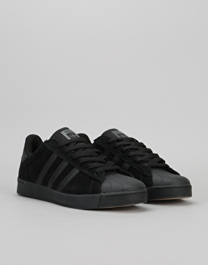 Adidas Superstar Vulc ADV Skate Shoes - Core Black/Core Black