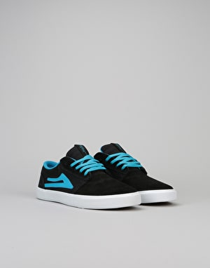 Lakai Griffin Boys Skate Shoes - Black/Blue Suede