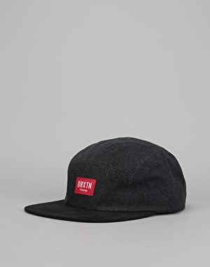 Brixton Hoover 5 Panel Cap - Washed Black/Black