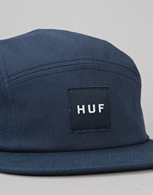 HUF Box Logo Volley 5 Panel Cap - Indigo
