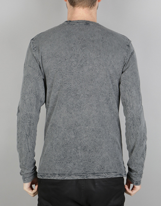 Altamont Reynolds Wash LS T-Shirt - Dark Grey