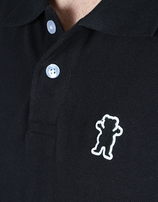 Grizzly Fisher Creek L/S Polo Shirt - Black