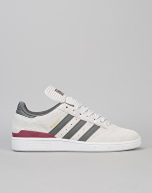 Adidas Busenitz Skate Shoes - Grey One/Customized/Collegiate Burgundy
