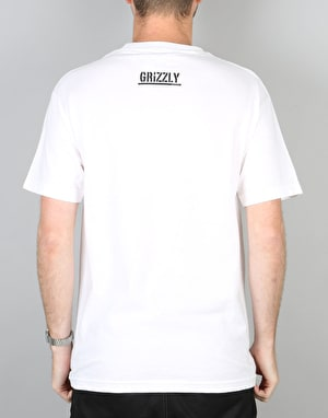 Grizzly Hot Box Stamp Logo T-Shirt - White