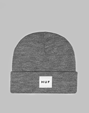HUF Box Logo Beanie - Grey Heather