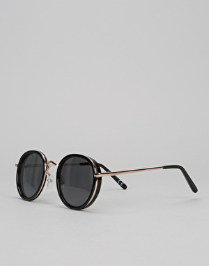 Glassy Sunhater Lincoln Sunglasses - Black/Gold