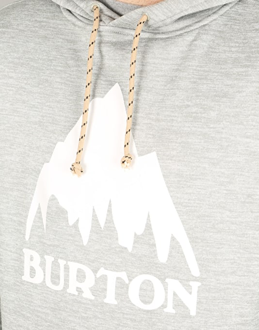 Burton Oak 2017 Snowboard Pullover Hoodie - Monument Heather