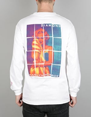 Diamond Supply Co. x Marilyn Monroe Stagger LS T-Shirt - White