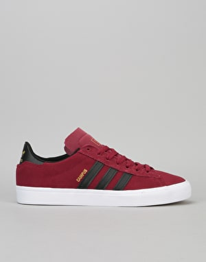 Adidas Campus Vulc II ADV Skate Shoe - Collegiate Burgundy/Core Black