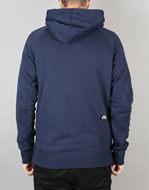 Nike SB Icon Grid Pullover Hoodie - Obsidian/Peat Moss