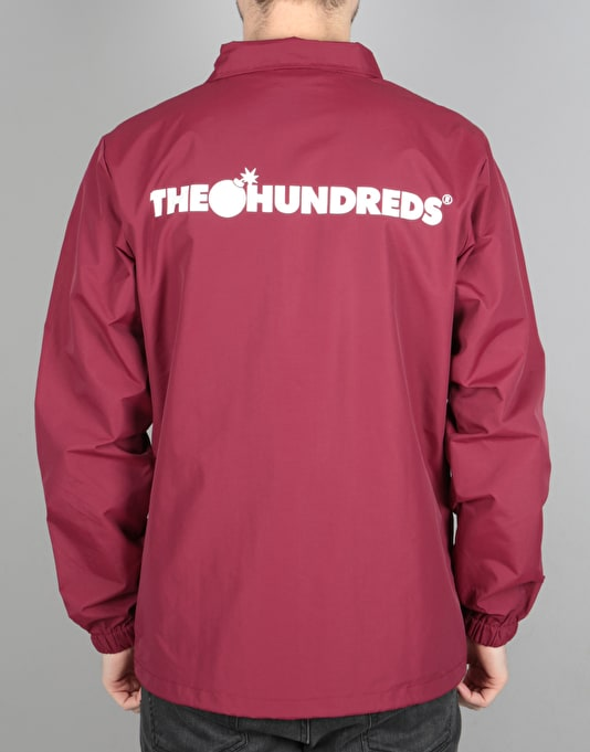 The Hundreds Bar Coach Jacket - Burgundy