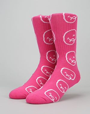 Chrystie Bubble Man Socks - Pink