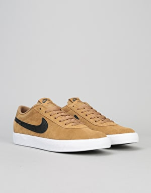 Nike SB Bruin Premium SE Skate Shoes - Golden Beige/Black-White-Black