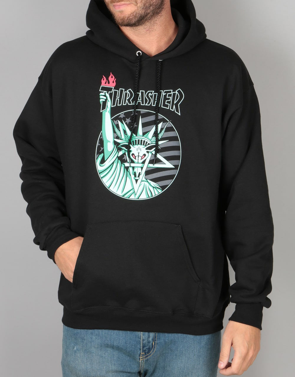 Thrasher Liberty Goat Pullover Hoodie - Black | Skate Pullover Hoodies | Mens Hoodies | Clothing ...