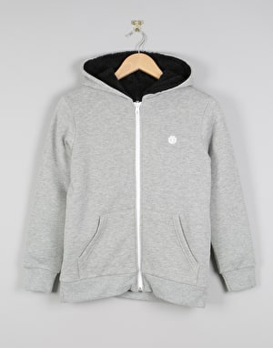 Element Bolton Boys Fleece Lined Zip Hoodie - Grey Heather