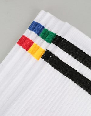 Route One Classic Crew Socks - 3 Pack - White Multi