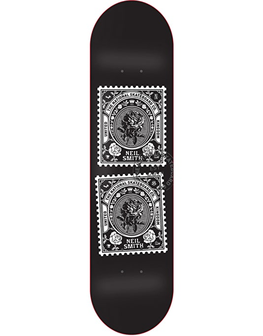 The National Skateboard Co. Smith Stamps Pro Deck - 8.25""