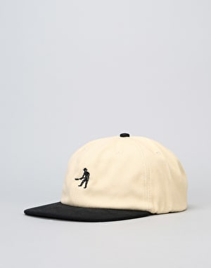 Pass Port Workers Strapback Cap - Cream/Black