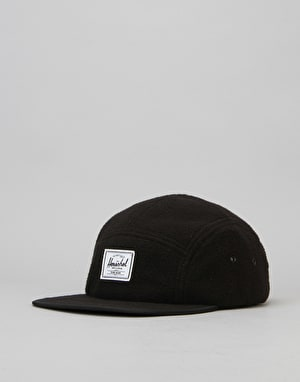 Herschel Supply Co. Glendale Polar Fleece 5 Panel Cap - Black