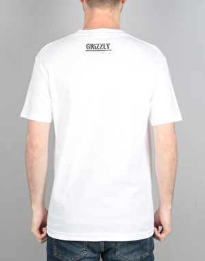 Grizzly OG Bear Logo T-Shirt - White