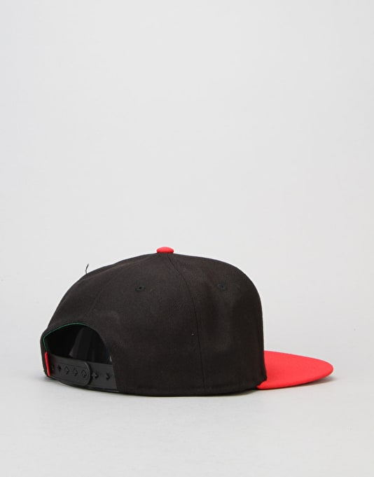 LRG Research Collection Snapback Cap - Black/Red