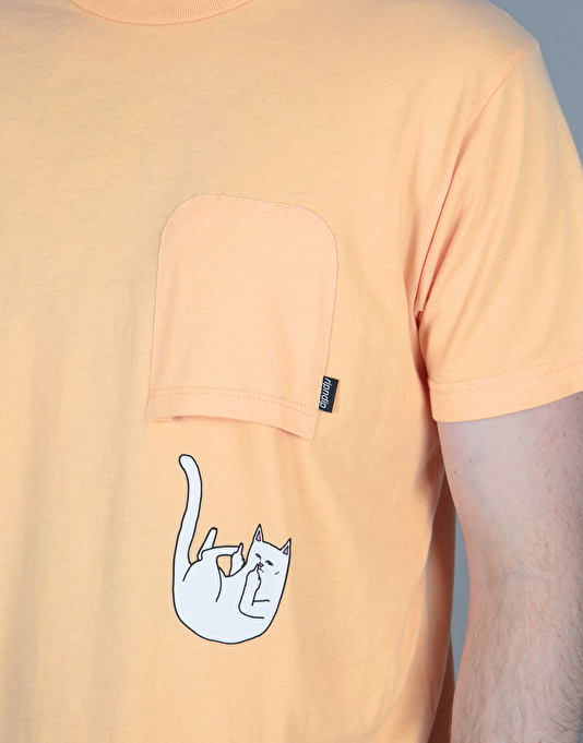 RIPNDIP Falling For Nermal Pocket T-Shirt - Peach