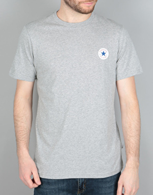 Converse Core Left Chest CP Crew T-Shirt - Vintage Grey Heather