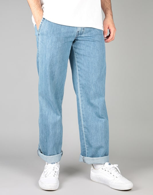Denim Bleach Trousers Pant Chinos Skate Work And Wash Dickies q6Z7OH
