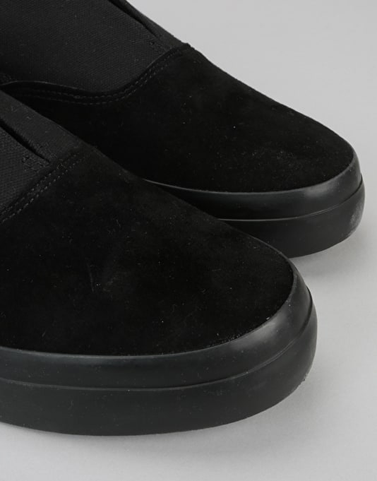 HUF Dylan Slip On Pro Skate Shoes - Black/Black