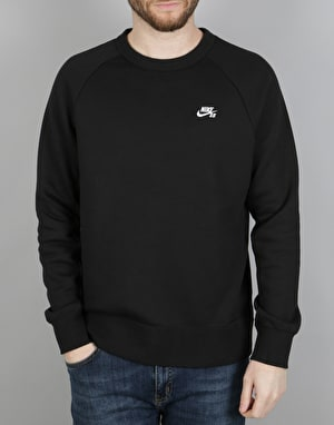 Nike SB Icon Crew Fleece - Black/White