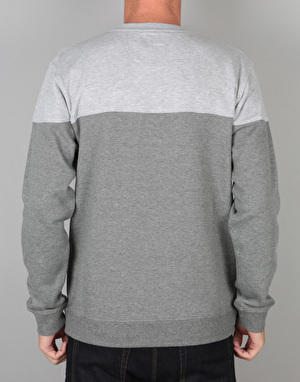 DC Rebel Block Crew Sweatshirt - Charcoal Heather