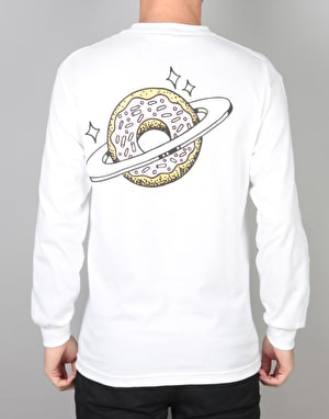 Skateboard Café Planet Donut L/S T-Shirt - White