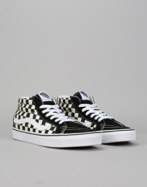 Vans Sk8-Mid Reissue Skate Shoes - Checkerboard/True White