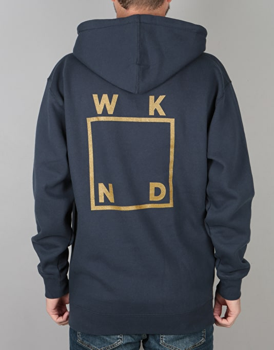 WKND Gold Logo Pullover Hoodie - Slate Blue