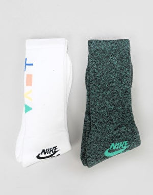 Nike SB Crew Socks - White Multi