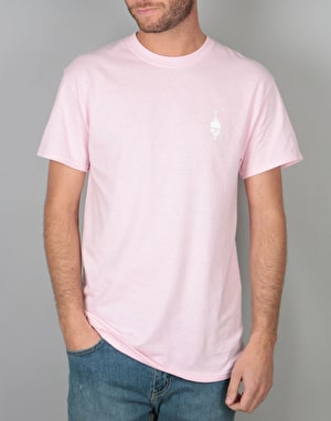 Scarred For Life Skull & Dagger T-Shirt - Light Pink