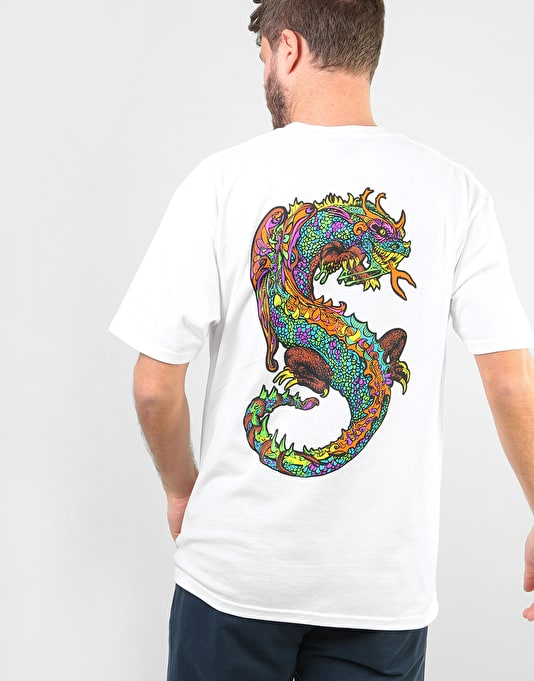 Stüssy Neon Dragon T-Shirt - White
