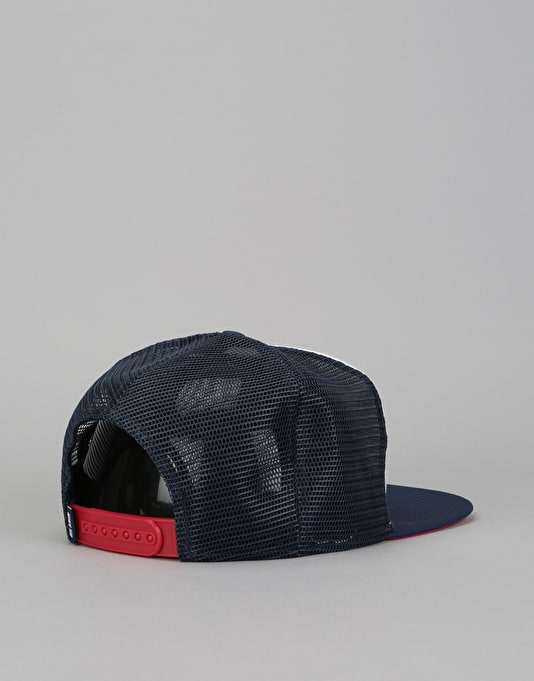 Nike SB Trucker Cap - White/Midnight Navy/University Red