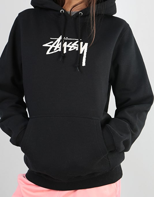 Stüssy Womens Stock Oversized Hoodie - Black