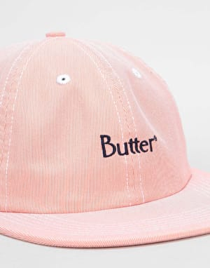Butter Goods Pincord 6 Panel Cap - Peach