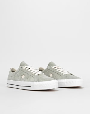 Converse One Star Pro Ox Skate Shoes - Dark Stucco/Driftwood/White