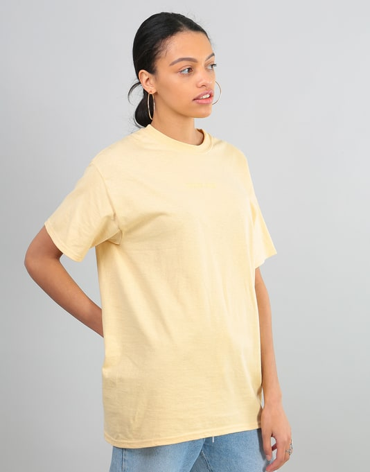 Route One Embroidered Logo Oversized T-Shirt - Vegas Gold
