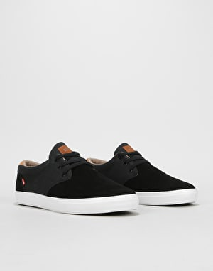 Globe Willow Skate Shoes - Black/Woodsmoke Brown