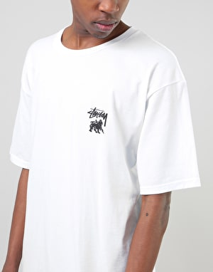 Stüssy Lion Shield T-Shirt - White