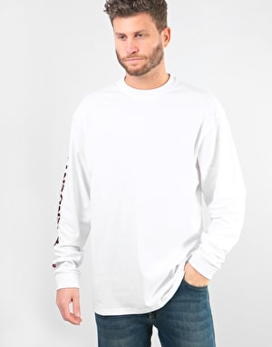 Independent Bar Cross L/S T-Shirt - White