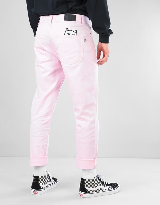 RIPNDIP Lord Nermal Denim Pants - Pink