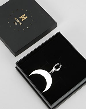 Midvs Co 18K Gold Plated Luna Necklace - White Gold