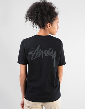 Stüssy Womens Stock T-Shirt - Black