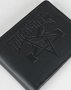 Thrasher SK8 Goat Leather Wallet - Black